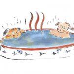 陶器風呂でゆっくり温まりましょう~♪