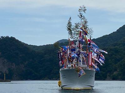 久しぶりの大型漁船の竣工式「登栄丸」144t